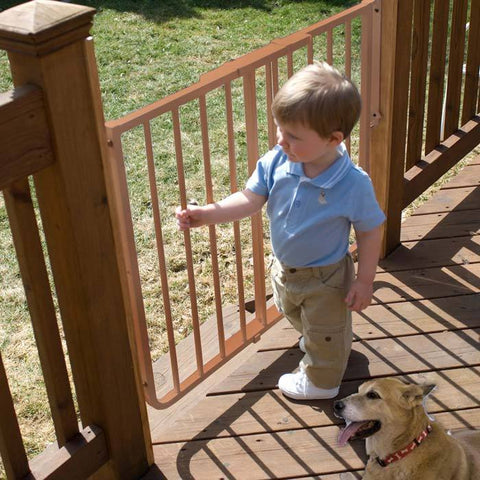 Cardinal Gates SS30OD-BR Stairway Special Outdoor Wall Mounted Pet Gate - PetGateCentral.com