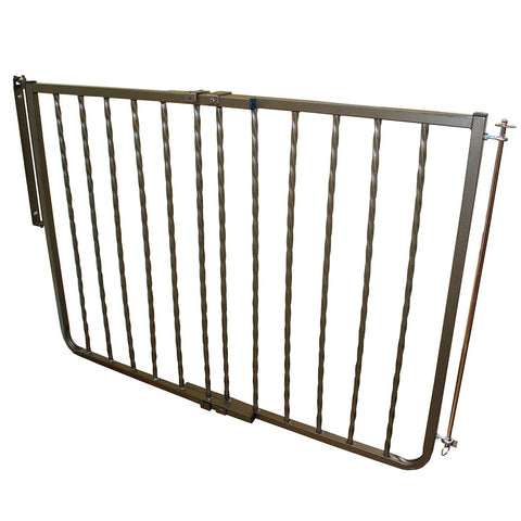 Cardinal Gates WI30-BZ Wrought Iron Decor Hardware Mounted Pet Gate - PetGateCentral.com