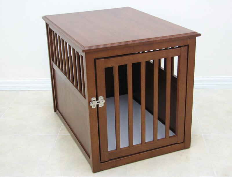 Crown Pet Products Crate Table, Medium Size, With Mahogan...