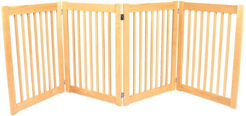 Dynamic Accents 4 Panel 32'' Outdoor Freestanding Pet Gate - White Oak (52123) - PetGateCentral.com