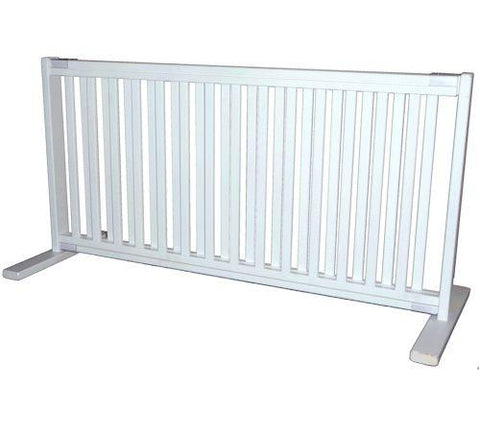 Dynamic Accents Large Free Standing Pet Gate Warm White - PetGateCentral.com