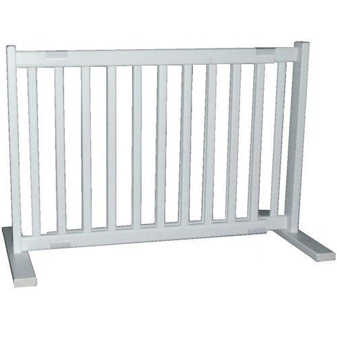 Dynamic Accents Small Free Standing Pet Gate Warm White - PetGateCentral.com