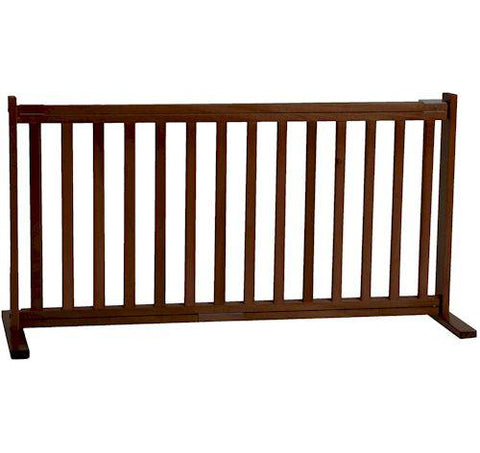 Dynamic Accents Large Free Standing Pet Gate Mahogany - PetGateCentral.com