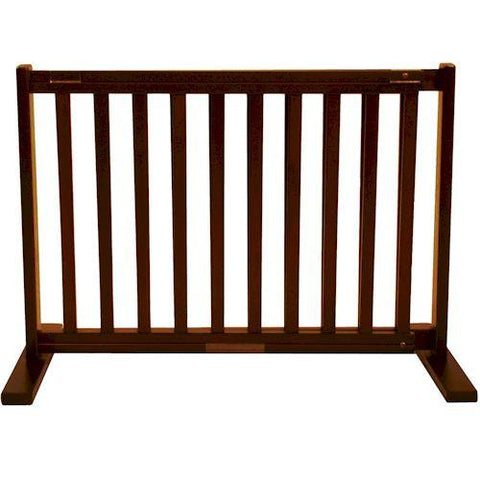 Dynamic Accents Small Free Standing Pet Gate Mahogany - PetGateCentral.com