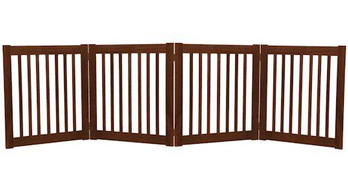 Dynamic Accents Small Four Panel Ez Pet Gate Mahogany