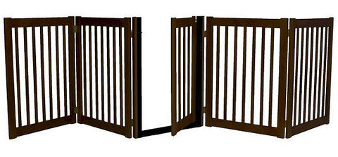 Five Panel Walk Thru Pet Gate Mahogany - Peazz.com