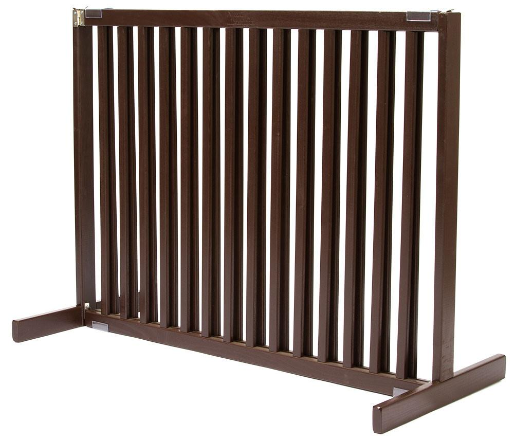 Dynamic Accents Large Tall Free Standing Pet Gate Mahogany