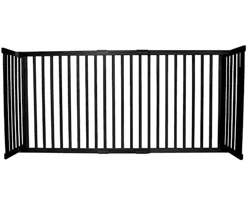 Dynamic Accents Large Tall Free Standing Pet Gate Black