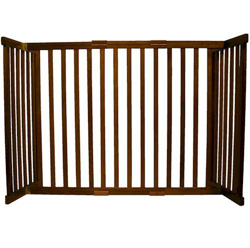 Dynamic Accents Small Tall Free Standing Pet Gate Mahogany