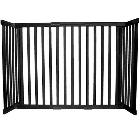 Dynamic Accents Small Tall Free Standing Pet Gate Black - PetGateCentral.com
