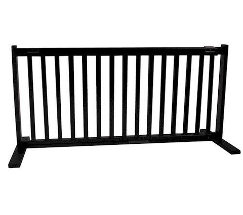 Dynamic Accents Large Free Standing Pet Gate Black - PetGateCentral.com