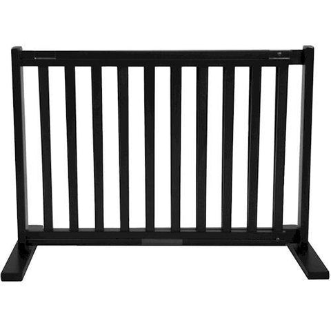 Dynamic Accents Small Free Standing Pet Gate Black - PetGateCentral.com