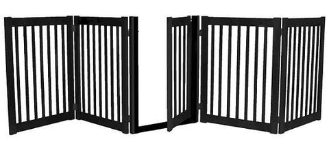 Five Panel Walk Thru Pet Gate Black - Peazz.com