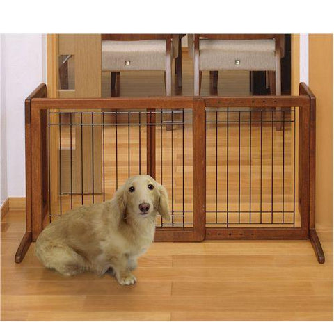 Richell Bay Isle Freestanding Pet Gate SMALL - PetGateCentral.com