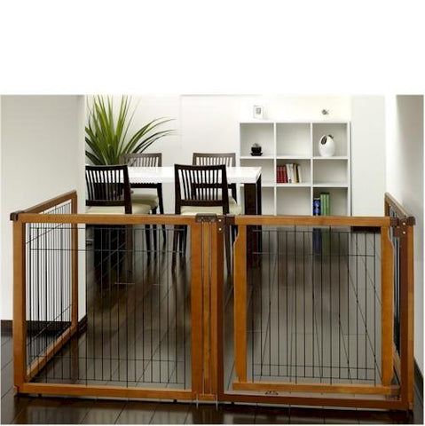 Richell Convertible Elite Pet Gate - 4 Panel - PetGateCentral.com