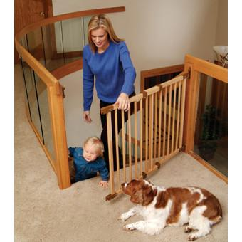 Kidco Wood Safeway Angled Mount - PetGateCentral.com