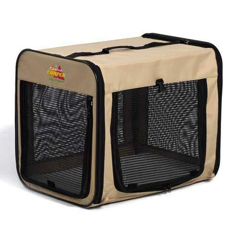 "MidWest Canine Camper Day Tripper-Single Door-Folding Soft Crate-12"" - PetGateCentral.com"
