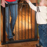 KidCo G1001 Center Gateway Black Walk Through Pressure Gate - Peazz.com - 2