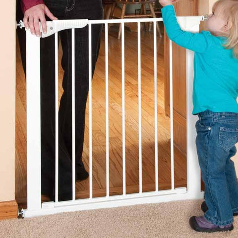 KidCo G1000 Center Gateway White Walk Through Pressure Gate - Peazz.com - 1