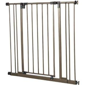 North States Extra Tall Deluxe Easy-Close Gate With 2 Extensions - Brown (NS4912S) - PetGateCentral.com