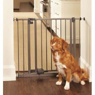 "North States Slide-Step and Open Pressure Mounted Steel Gate 28"" - 38.5"" x 29"" (NS4925) - PetGateCentral.com"