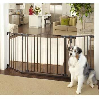 "North States Deluxe Décor Wall Mounted Matte Bronze Gate 37"" - 72"" x  30.7"" (NS4934) - PetGateCentral.com"