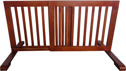 "MDOG2 Free Standing Pet Gate - 23.6""-39.4""L x 20.1""H x 21.6""D - Light Oak - PetGateCentral.com"