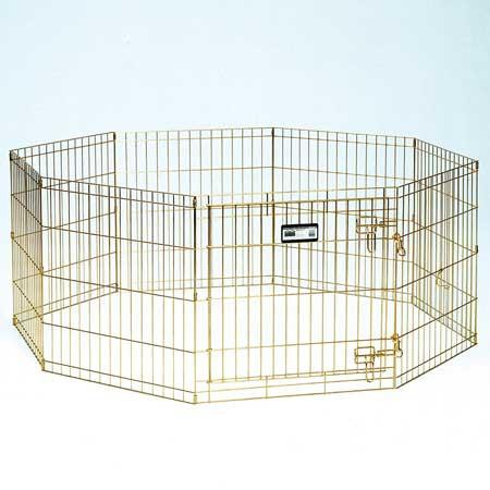 MidWest Gold Zinc Pet Exercise Pen - 30in - PetGateCentral.com