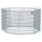 MidWest Black E-Coat Pet Exercise Pen - 24in - PetGateCentral.com