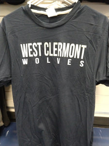 Short Sleeve - West Clermont Wolves - Navy