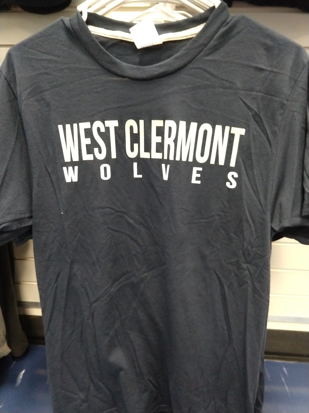 Premium Blend West Clermont Wolves Short Sleeve Shirt Navy
