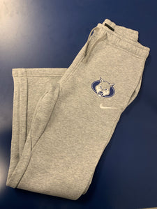 Youth Sweatpants - Nike Wolf Head - Light Gray