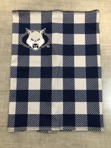 Neck Buff - Wolf Head - Navy/Grey Check