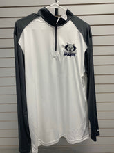 1/4 Zip - Wolf Head - White w/ Gray Sleeves