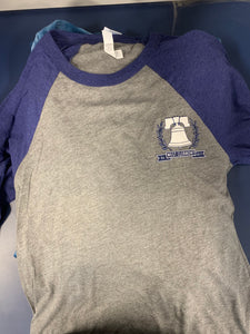 3/4 Sleeve - Bell - Royal/Gray