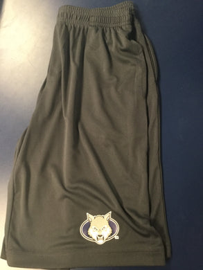 Youth Athletic Shorts - Wolf Head - Gray