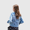 Chaqueta Denim Bordado Floral