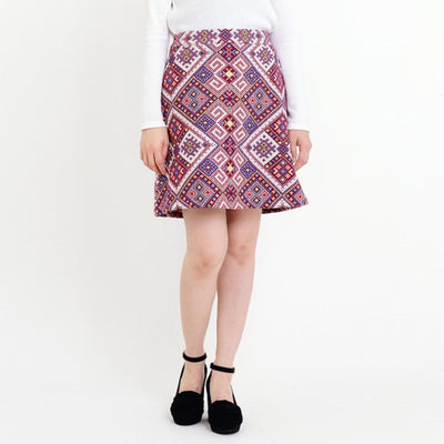 Falda Midi Estampado Tribal