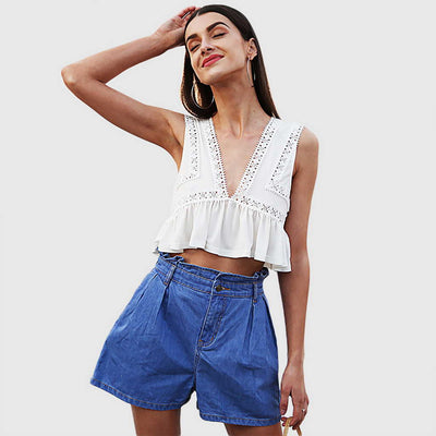 Crop Top De Encajes Sweet