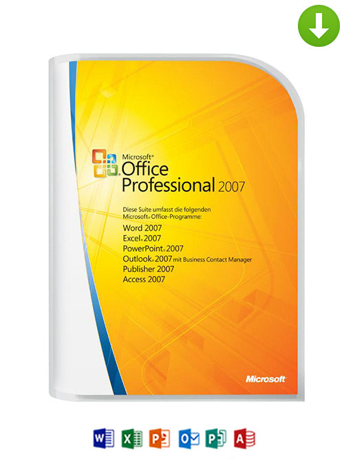 Microsoft Office Professional 2007 on DVD