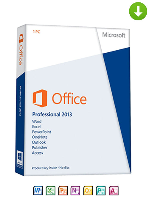 Microsoft Office 2013 Professional Plus on DVD