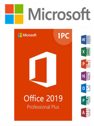 Microsoft Office 2019 Professional Plus Software on DVD