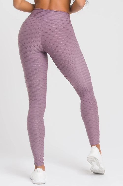 Mauve Textured Leggings