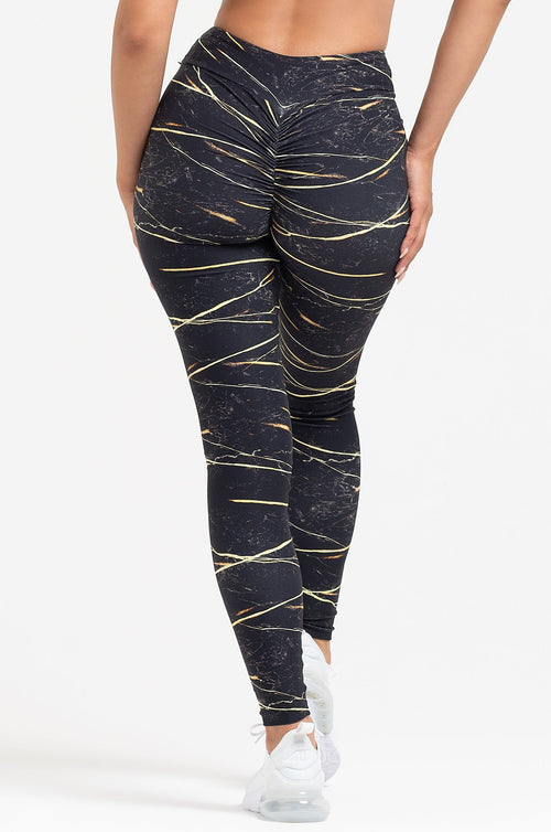 Tiger's Eye High Waist Scrunch Leggings