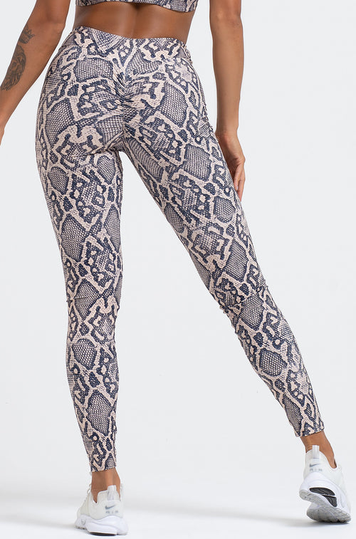 Python High Waist Scrunch Leggings