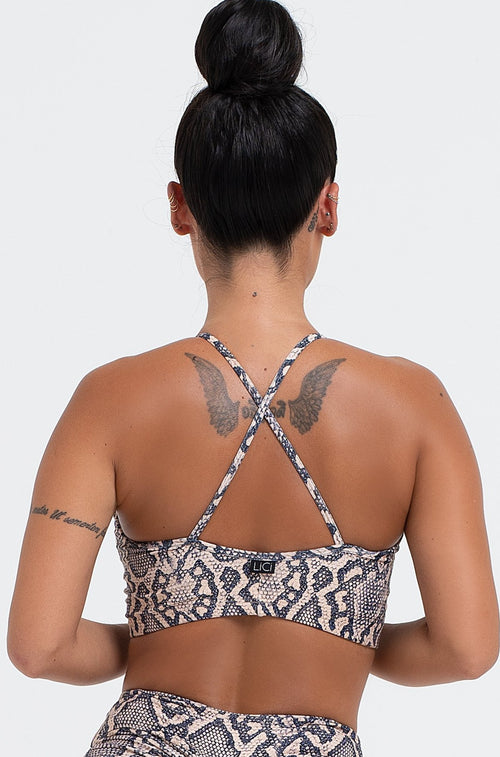 Python Criss Cross Crop Top