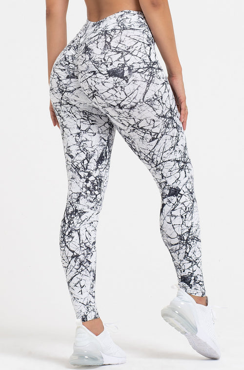 Marble High Waist Scrunch Legging