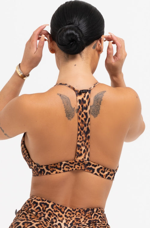 Cheetah Strappy Bra