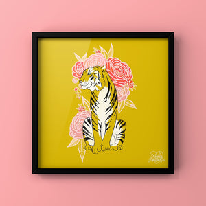 A Tigress Can't Change Her Stripes - Art Print by Never Forever