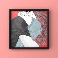 Hugs That Feel Like Home - Art Print by Never Forever